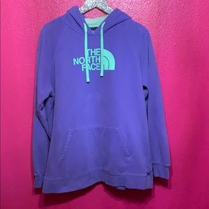 The North Face XXL Purple Hooded Sweater